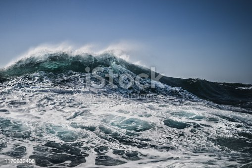 The shape of the sea: waves crashing