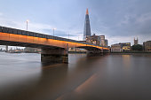 The Shard and London Bridge in the Evening, London, United Kingdom