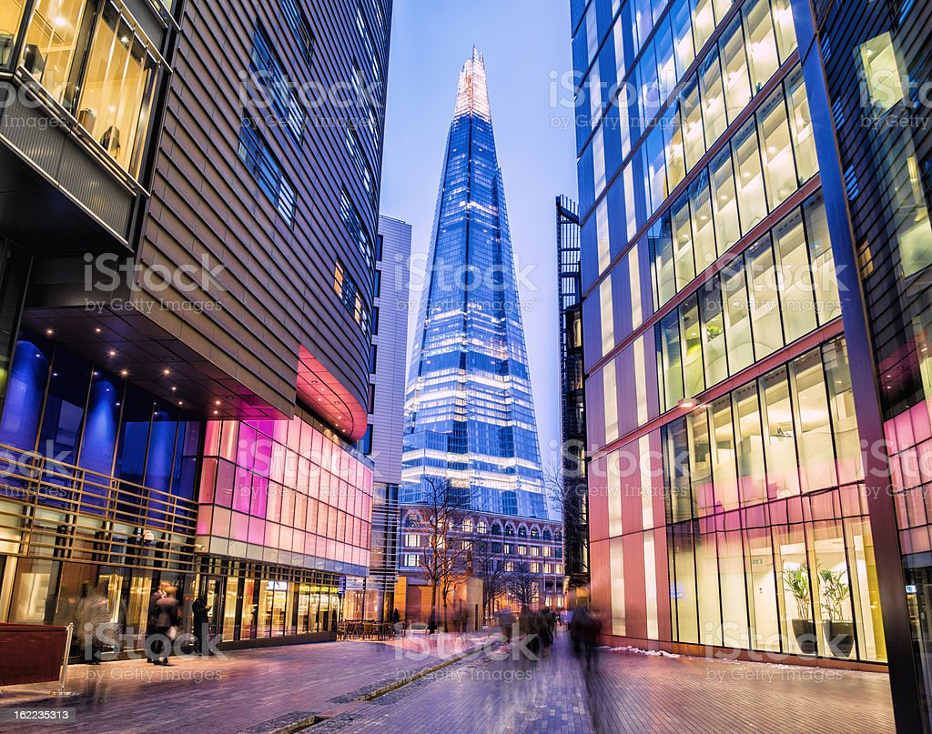 The Shard and Modern London Offices royalty-free stock photo
