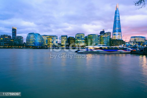 The Shard over City Hall and the Thames riverside buildings