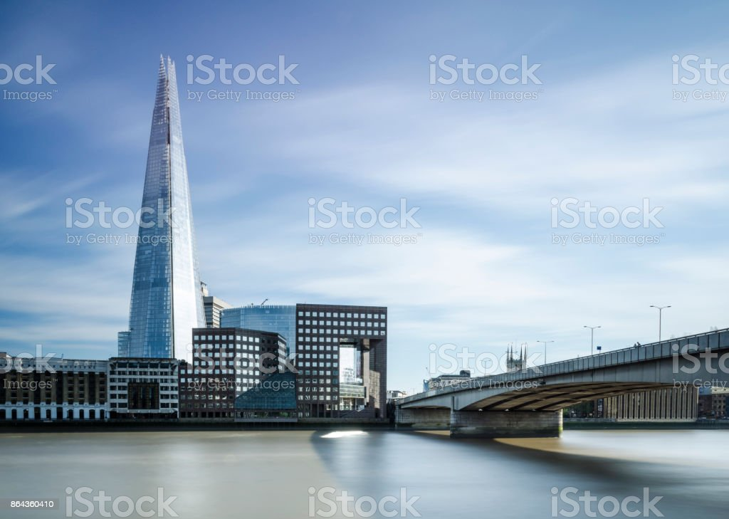 The Shard over the River Thames stock photo