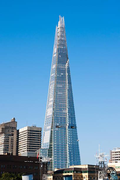 The Shard Skyscrapper in London stock photo