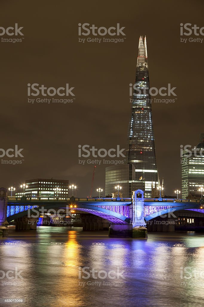 The Shard & Southwark Bridge royalty-free stock photo