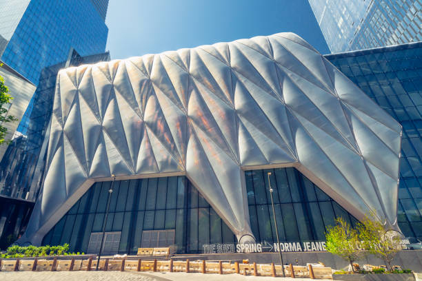 The Shed, New Landmark, Cultural Center in Hudson Yards, Manhattan, NYC stock photo