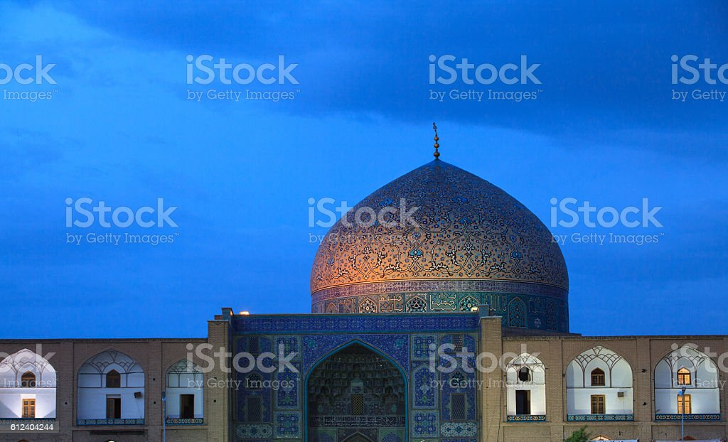 The Sheikh Lotfollah Mosque , Naghsh-i Jahan Square, Isfahan, Iran stock photo