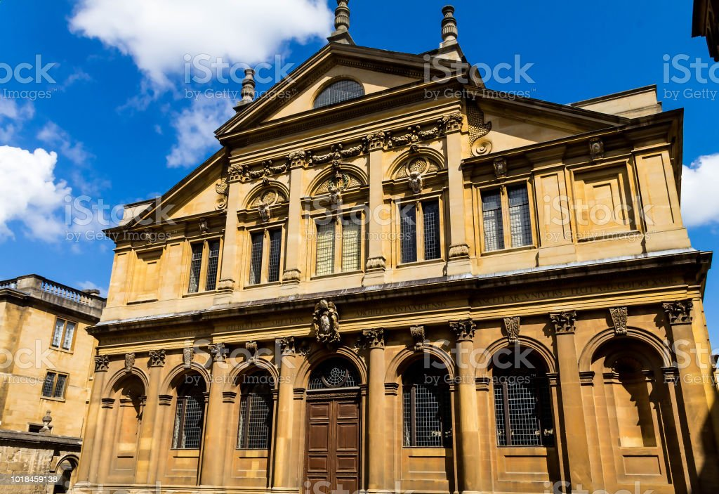 The Sheldonian Theatre, located in Oxford, England,