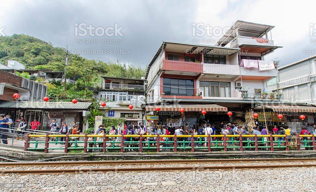 The Shifen Old Street in Taiwan stock photo