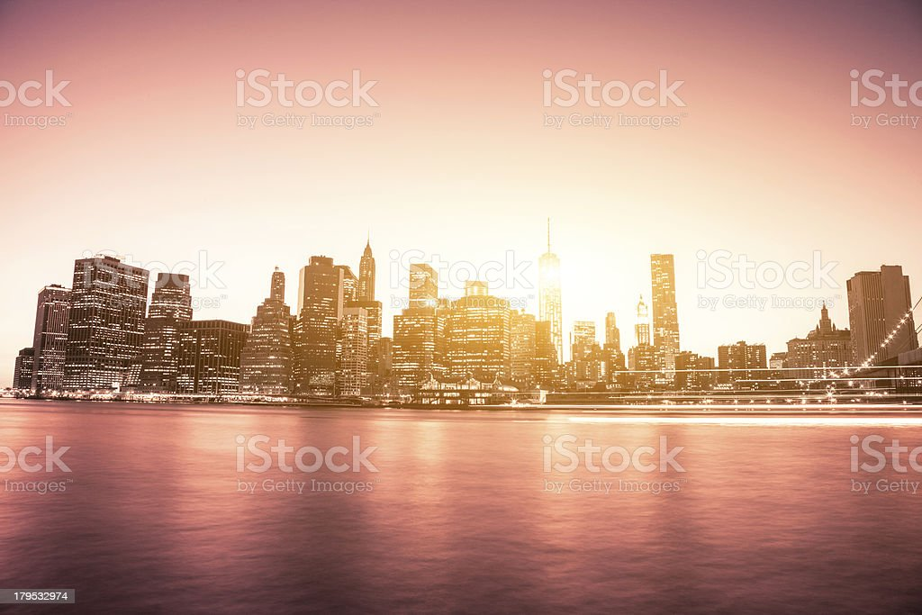 The shine of Freedom Tower royalty-free stock photo
