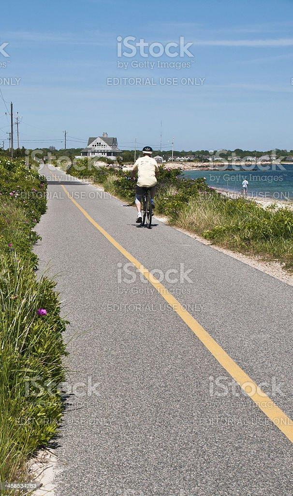 The Shining Sea Bikeway stock photo