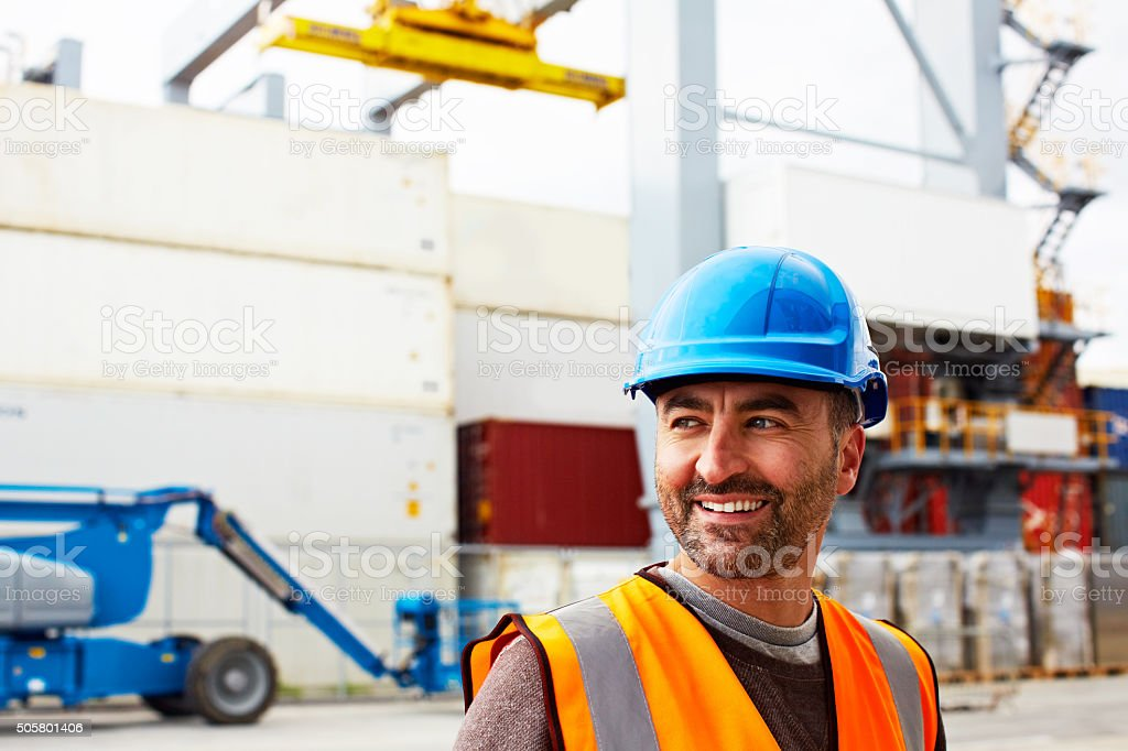 The shipment is on its way! stock photo