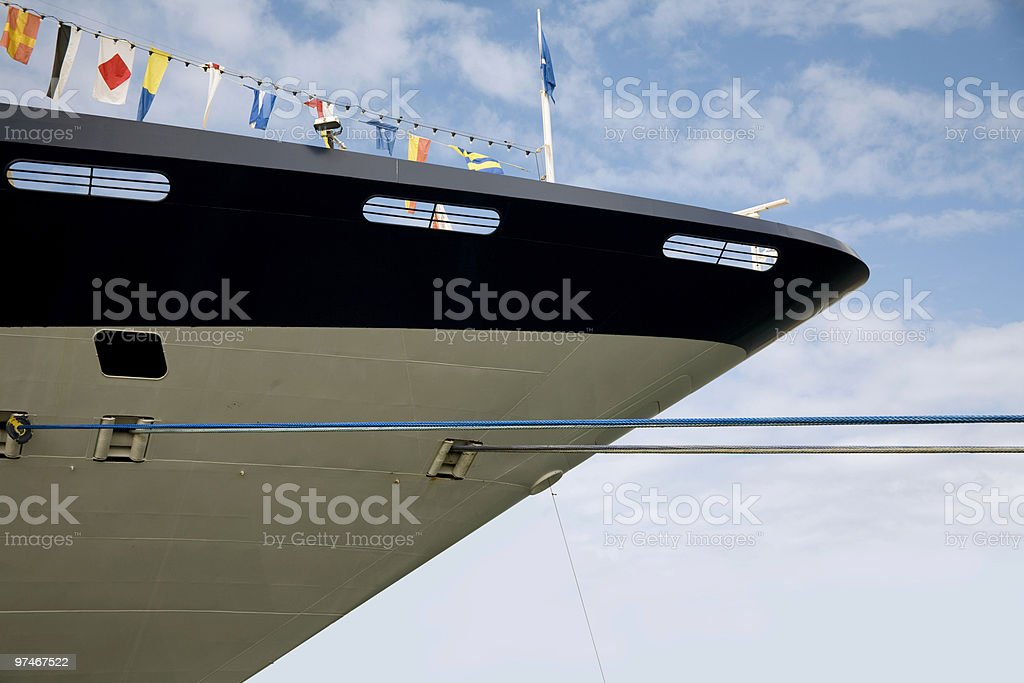 the ship's bow royalty-free stock photo