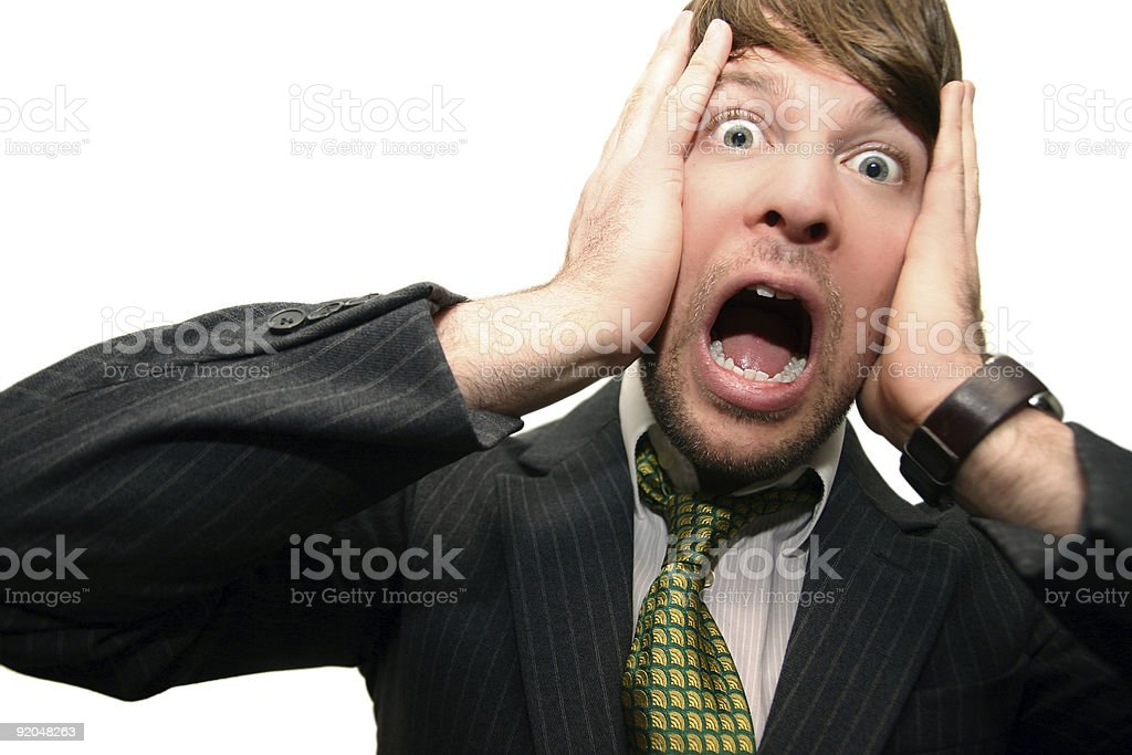 the shocked guy (isolated) royalty-free stock photo