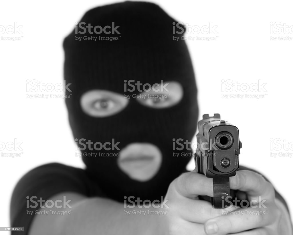 The Shooter stock photo