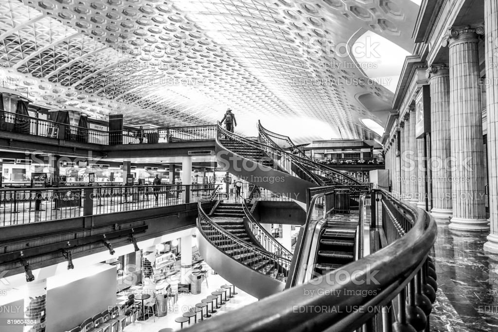 The shops at Washington Union Station - WASHINGTON DC - COLUMBIA - APRIL 9, 2017 stock photo