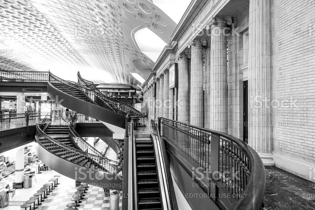 The shops at Washington Union Station - WASHINGTON DC - COLUMBIA - APRIL 9, 2017 stock photo