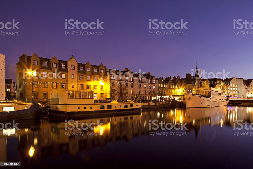 The Shore, Leith, Edinburgh stock photo