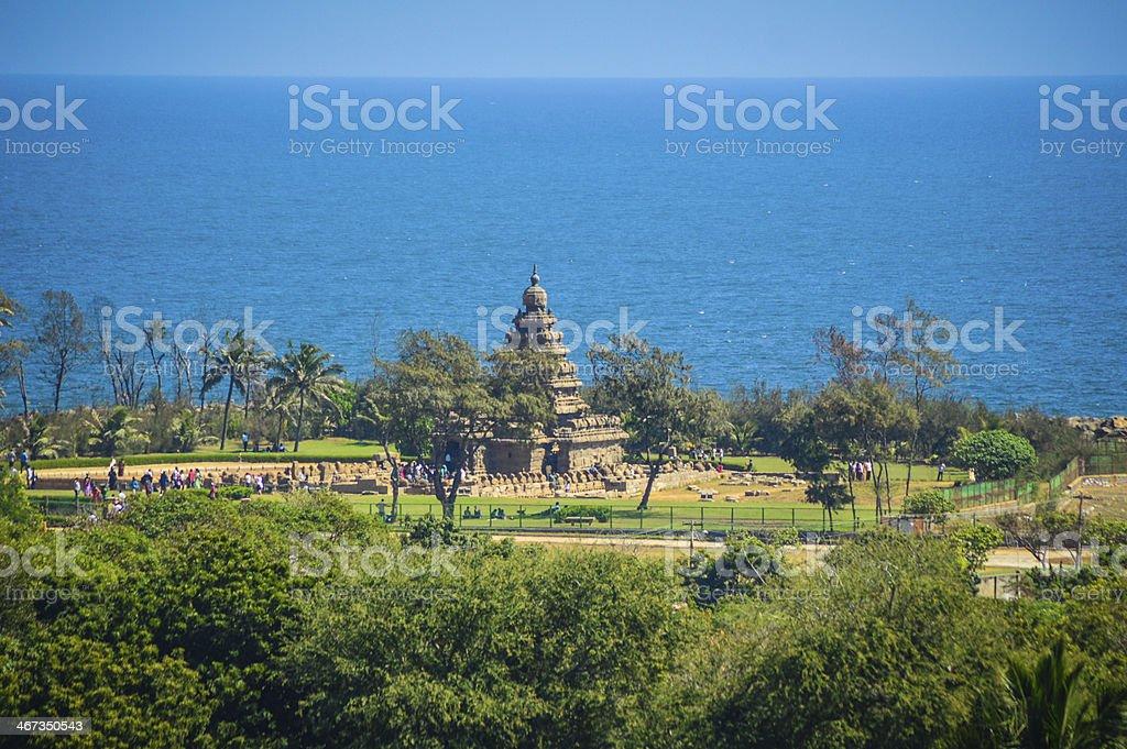 The Shore Temple of Mamallapuram, Tamil Nadu, India stock photo