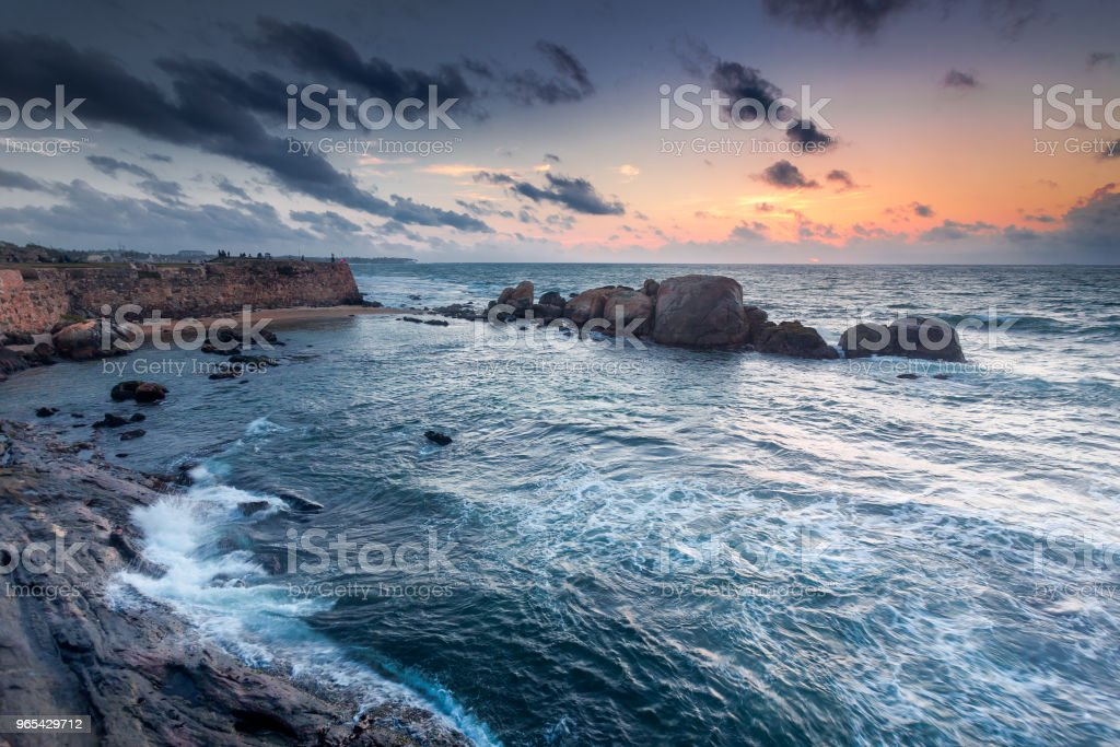 The shores of the Indian Ocean next to Galle royalty-free stock photo