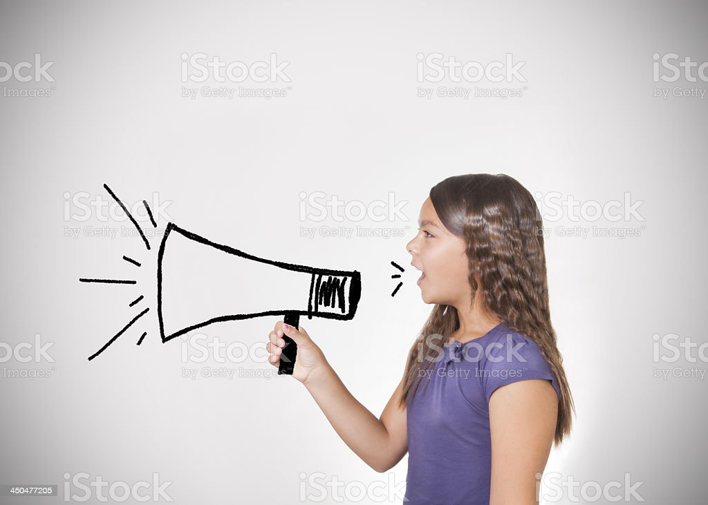 the shout of  children stock photo