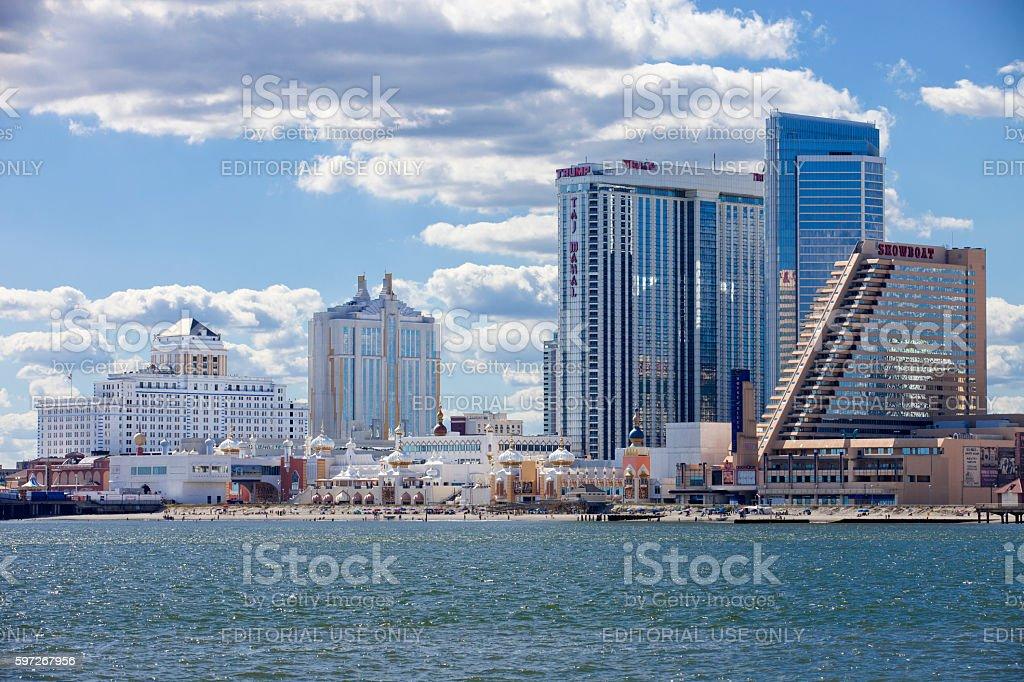 The Showboat, Taj Mahal and Resorts Casino in Atlantic City royalty-free stock photo