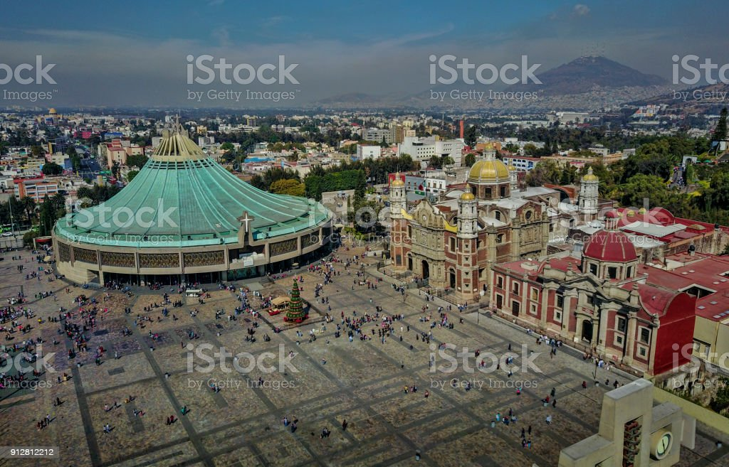 The Shrine of Our Lady of Guadalupe stock photo