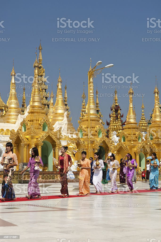 The Shwedagon Pagoda royalty-free stock photo