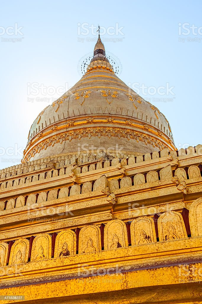 The Shwezigon Pagoda royalty-free stock photo
