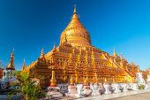 istock The Shwezigon Pagoda, the famous chedi in Bagan, Myanmar. 1199515637