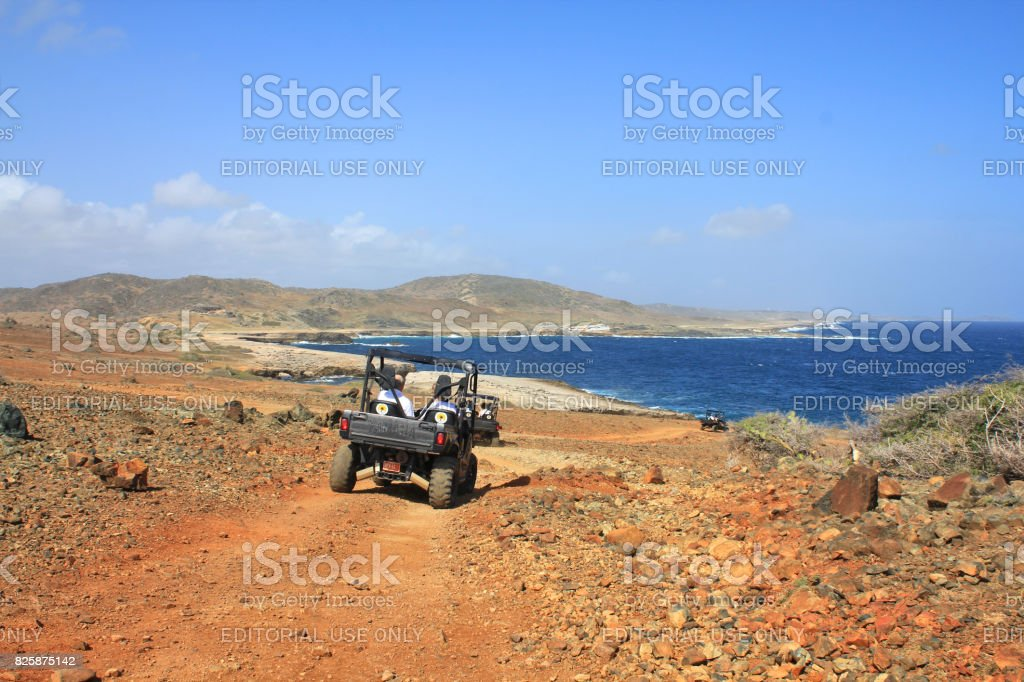 The Side by Side at Aruba stock photo