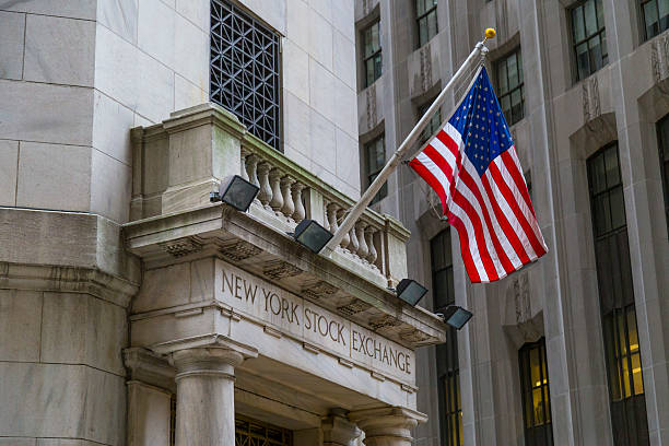 the side entrance of new york stock exchange, nyc - new york stock exchange stock pictures, royalty-free photos & images