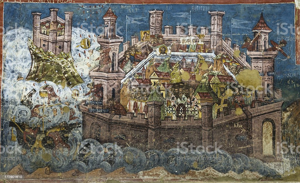 The siege of Constantinople stock photo