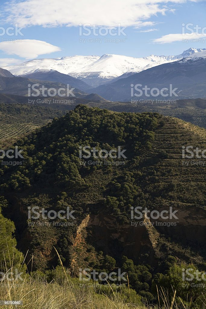 The Sierra Nevada, Andalusia, Spain stock photo