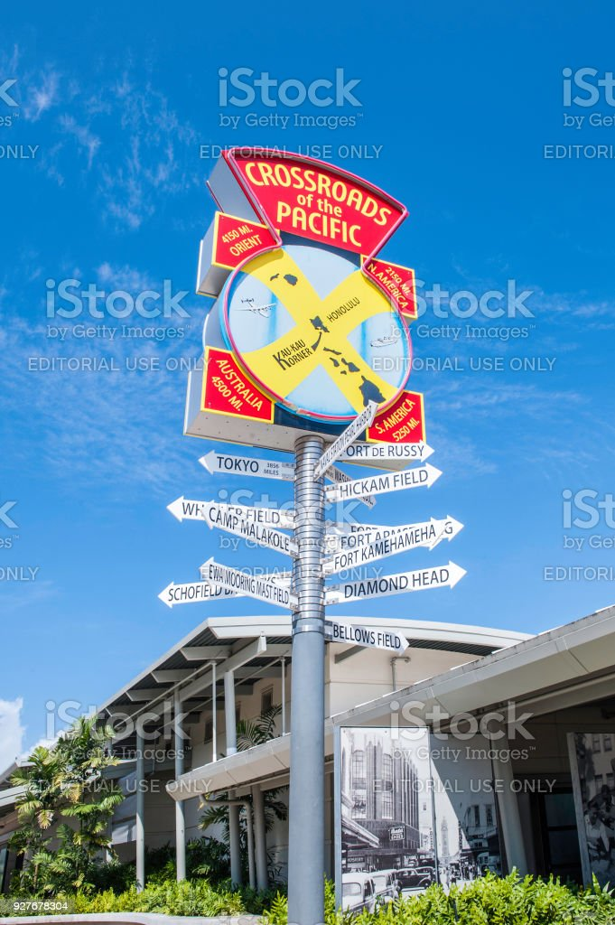 The sign standings on pearl harbor stock photo