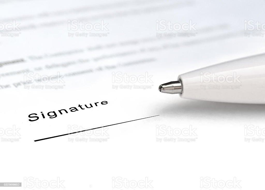 The signature stock photo
