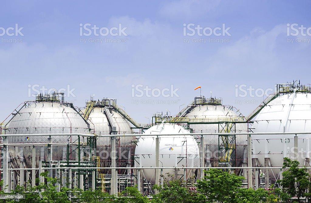 Den Silber und weiße große Lagerung natural gas Tank-Tops – Foto