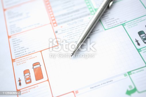 863128060 istock photo The silver pen is on the international 1125908507