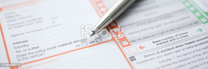863128060 istock photo The silver pen is on the international 1134032172