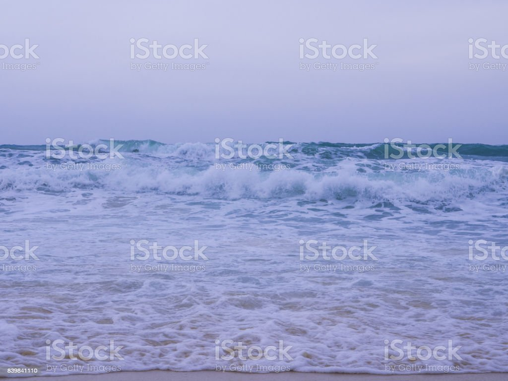 The simple nature that everyone could have seen, the wave of the sea stock photo