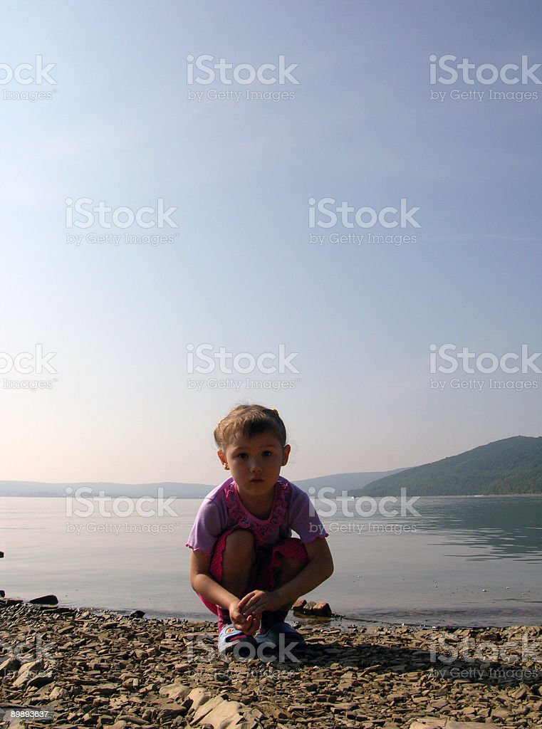 The simplicity of a child royalty-free stock photo