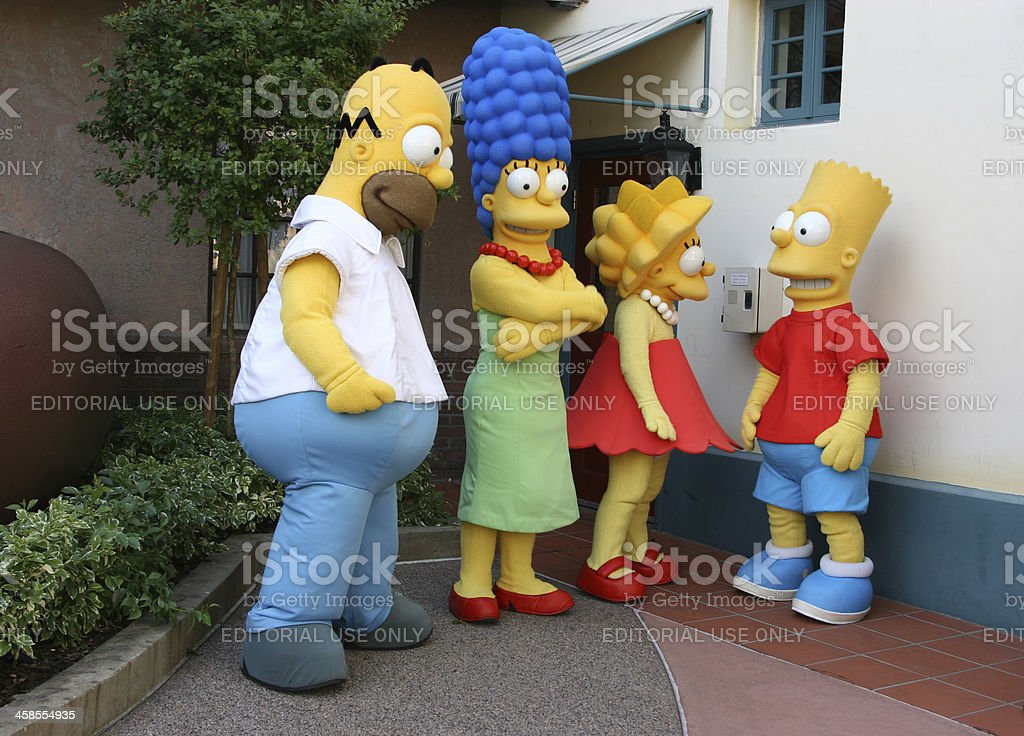 The Simpsons stock photo