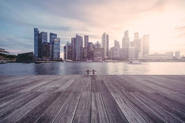 Die Stadt Singapur-Sonnenuntergang – Foto