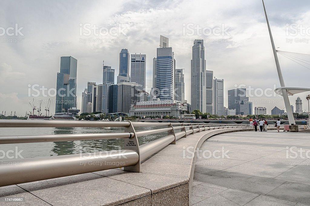The Singapore Skyline royalty-free stock photo