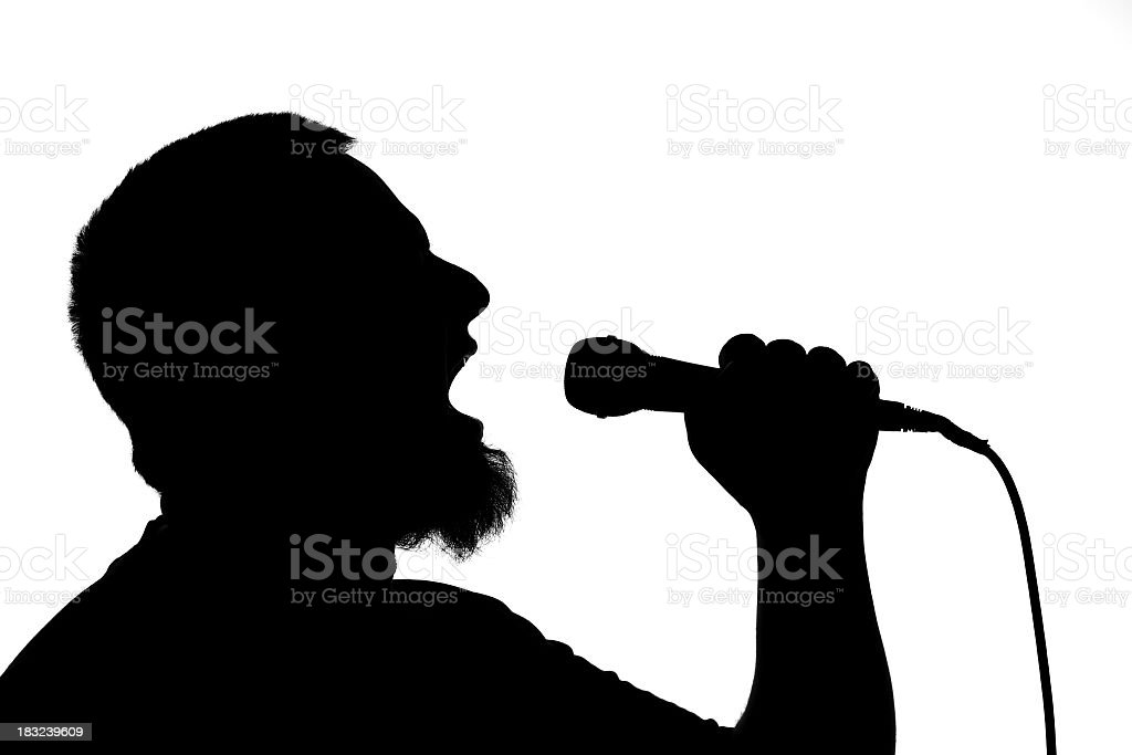 The Singer 2 royalty-free stock photo