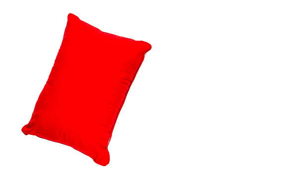 The single pillow on white isolate background with clipping path stock photo