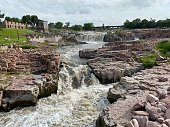 istock The Sioux Falls Waterfall 1255422150