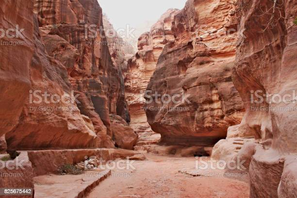 The Siq - narrow entrance to the ancient Nabatean city of Petra