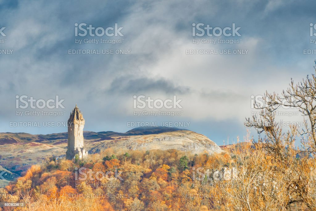 The Sir William Wallace Monument Stirling stock photo