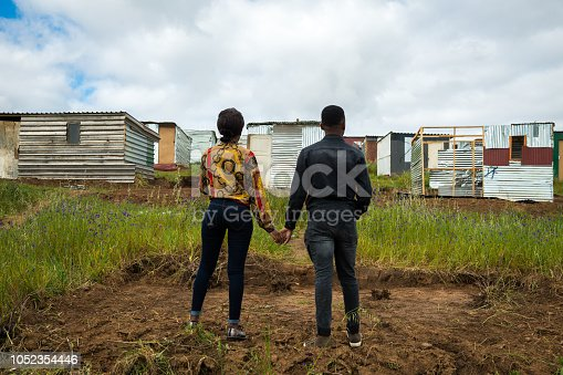 Couple in the Townships of Cape Town, South Africa