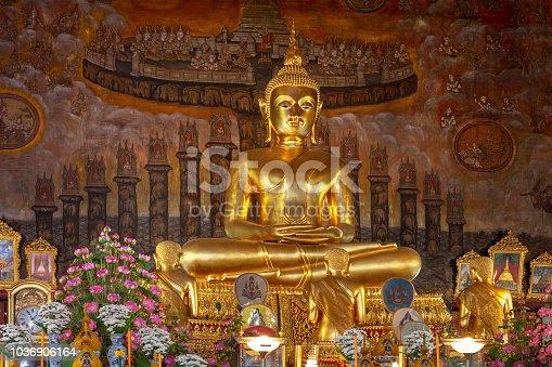 The Sitting Buddha in Bangkok