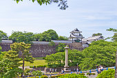 兼六園のすぐ隣にある石川県の金沢城周辺の状況